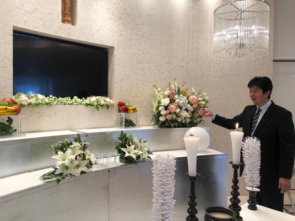 塚本葬儀社様の内観